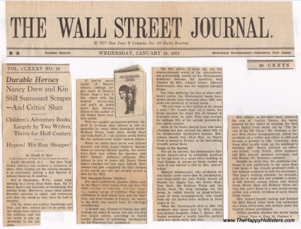 Excerpt: Wall Street Journal January 15 1975 Page 1
